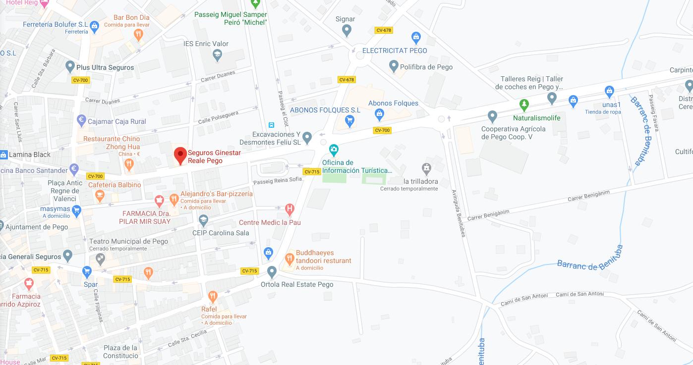 oficina pego google maps